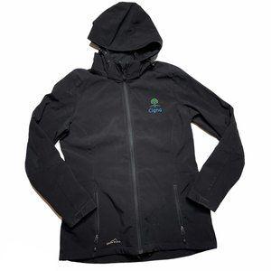 Eddie Bauer Jacket Medium Black Soft Shell M